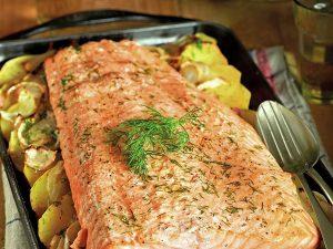 salmon entero hon